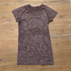 Lululemon Purple Short-Sleeve Top